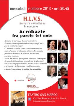 visualizza la locandina del concerto del 9 ottobre a Trento